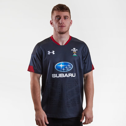 Under Armour Gales WRU 2017/18 Alternativa M/C Réplica - Camiseta de Rugby