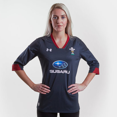 Under Armour Gales WRU 2017/18 Mujer Alternativa M/C Réplica - Camiseta de Rugby