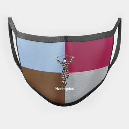 Harlequins Quartered Junior Facemask