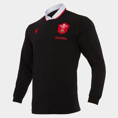 Macron Camiseta Clásica de Gales Manga Larga 2020 2021