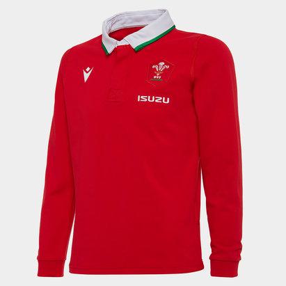 Macron Camiseta de Gales Clasica Local, Manga largas 2020 2021 Junior
