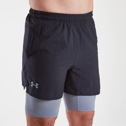 Under Armour Qualifier 2 en 1 Woven - Shorts