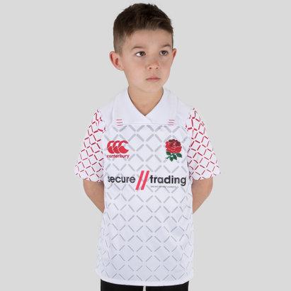Canterbury Inglaterra 7s 2018/19 Niños Home Pro M/C - Camiseta de Rugby