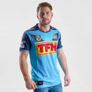 Classic Sportswear Gold Coast Titans 2018 NRL Home M/C - Camiseta de Rugby