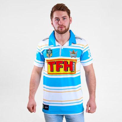 Classic Sportswear Gold Coast Titans 2018 NRL Heritage M/C - Camiseta de Rugby