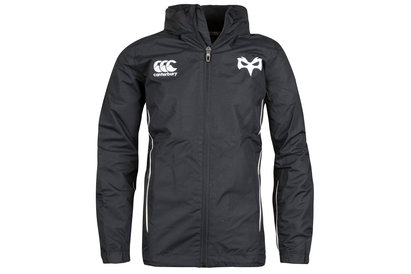 Canterbury Ospreys 2017/18 Niños Full Zip Rugby - Chaqueta Impermeable