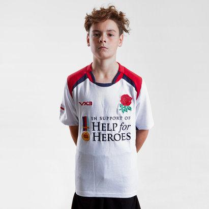 VX-3 Help for Heroes Inglaterra 2017/18 Niños M/C - Camiseta de Rugby