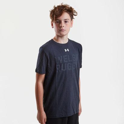 Under Armour Gales WRU 2017/18 Niños Gráfica Rugby - Camiseta