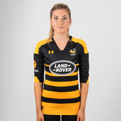 Under Armour Wasps 2018/19 Home Mujer M/C Réplica - Camiseta de Rugby