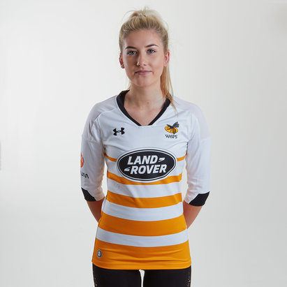 Under Armour Wasps 2018/19 Alternativa Mujer M/C Réplica - Camiseta de Rugby