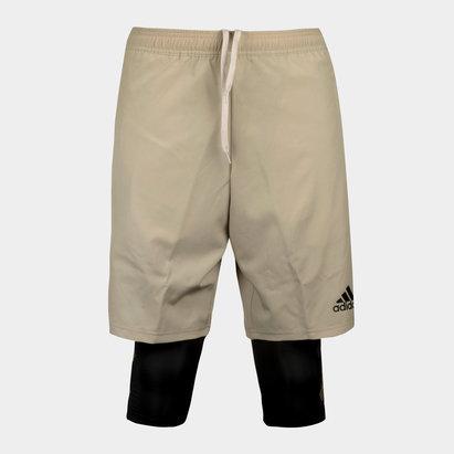 adidas Tango 2 en 1 - Shorts de Entrenamiento