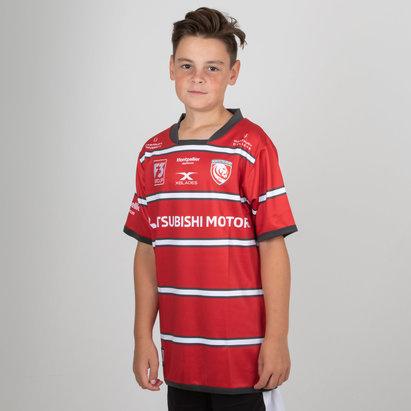 X Blades Gloucester 2018/19 Home Niños M/C Réplica - Camiseta de Rugby