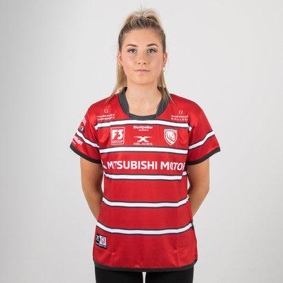 X Blades Gloucester 2018/19 Mujer Home M/C Réplica - Camiseta de Rugby
