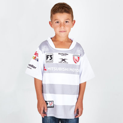 X Blades Gloucester 2018/19 Alternativa Niños M/C Réplica - Camiseta de Rugby