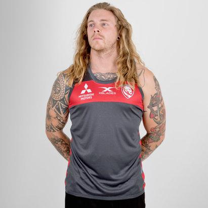 X Blades Gloucester 2018/19 Players Rugby - Camiseta de Tirantes Entrenamiento