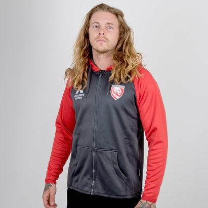 X Blades Gloucester 2018/19 Full Zip Rugby - Sudadera con Capucha