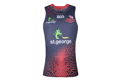 Zoo Sport Queensland Reds 2018 Players Super Rugby - Camiseta de Tirantes Entrenamiento