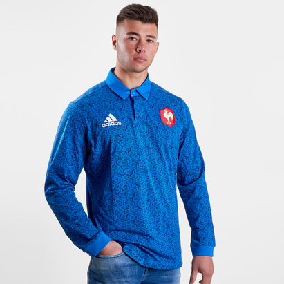 adidas Francia 2018 Seguidores M/L - Camiseta de Rugby