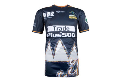 Classic Sportswear Brumbies 2018 NRL Niños Captains Run Rugby - Camiseta