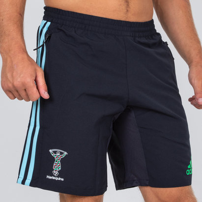 adidas Harlequins 2018/19 Players Woven Rugby - Shorts de Entrenamiento