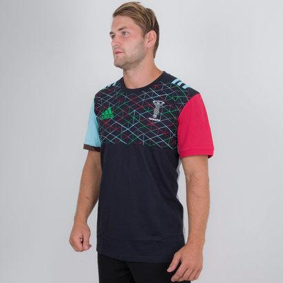 adidas Harlequins 2018/19 Algodón Rugby - Camiseta