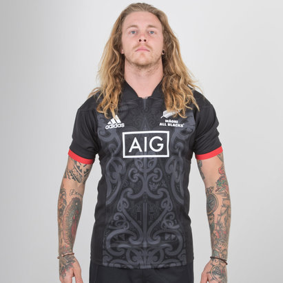 adidas Nueva Zelanda Maori All Blacks 2018 M/C - Camiseta de Rugby