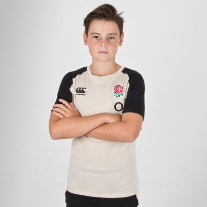 Canterbury Inglaterra 2018/19 Jóvenes Performance Algodón Rugby - Camiseta
