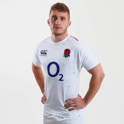 Canterbury Inglaterra 2018/19 Home M/C Players Test - Camiseta de Rugby
