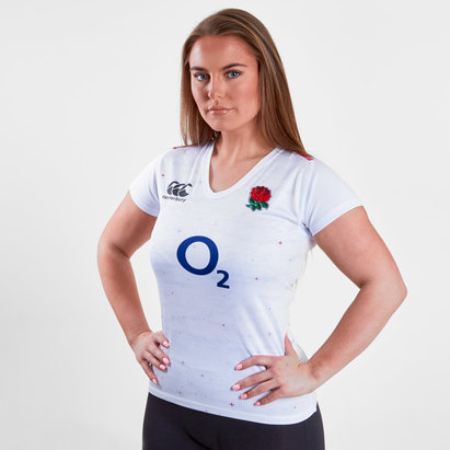 Canterbury Inglaterra 2018/19 Mujer Home Pro M/C - Camiseta de Rugby