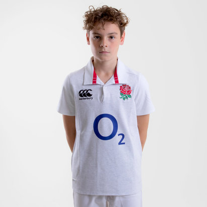 Canterbury Inglaterra 2018/19 Home Clásica Niños M/C - Camiseta de Rugby