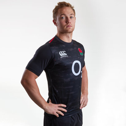 Canterbury Inglaterra 2018/19 Alternativa M/C Players Test - Camiseta de Rugby