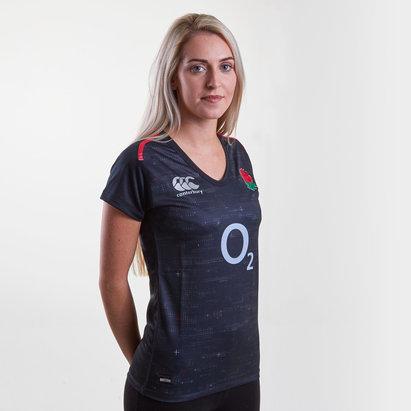 Canterbury Inglaterra 2018/19 Mujer Alternativa Pro M/C - Camiseta de Rugby