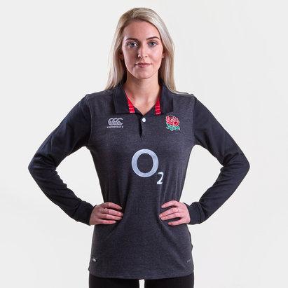 Canterbury Inglaterra 2018/19 Mujer Alternativa Clásica M/L - Camiseta de Rugby
