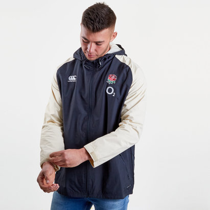 Canterbury Inglaterra 2018/19 Players Full Zip Rugby - Chaqueta Impermeable