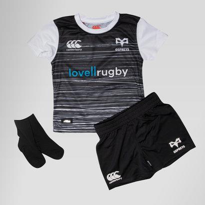 Canterbury Ospreys 2018/19 Bebés Home - Equipación de Rugby