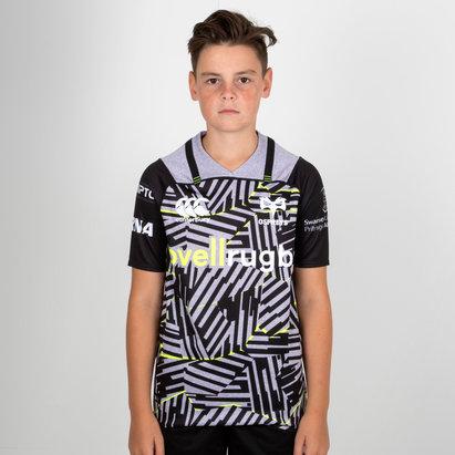 Canterbury Ospreys 2018/19 Niños 3a M/C Pro - Camiseta de Rugby