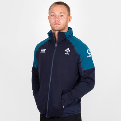Canterbury Irlanda IRFU 2018/19 Hybrid Full Zip Rugby - Sudadea con Capucha