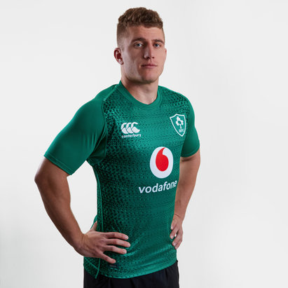 Canterbury Irlanda IRFU 2018/19 Home Players Test M/C - Camiseta de Rugby