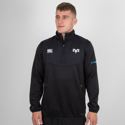 Canterbury Ospreys 2018/19 Players 1/4 Zip Rugby - Camiseta de Entrenamiento