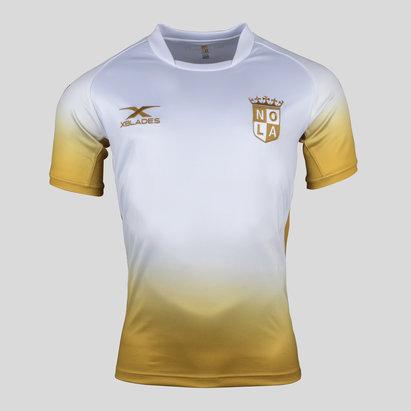X Blades New Orleans Gold MLR 2018 Alternativa M/C - Camiseta de Rugby