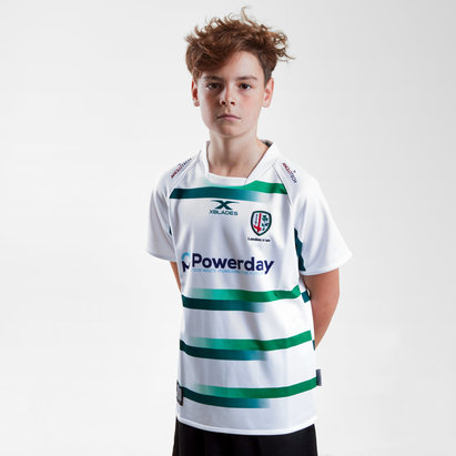 X Blades London Irish 2018/19 Niños Alternativa M/C Réplica - Camiseta de Rugby