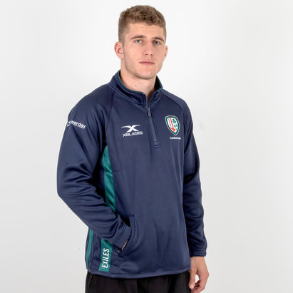 X Blades London Irish 2018/19 Players 1/4 Zip - Chaqueta de Rugby