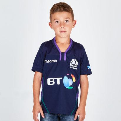 Macron Escocia 2018/19 Home Niños M/C Réplica - Camiseta de Rugby