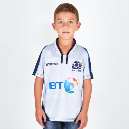 Macron Escocia 2018/19 Alternativa Niños M/C Réplica - Camiseta de Rugby