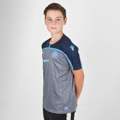 Macron Scotland 2018/19 Camiseta de Rugby para el Gimnasio de Niños