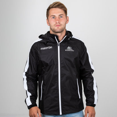 Macron Glasgow Warriors 2018/19 Chaqueta Impermeable con Cierre