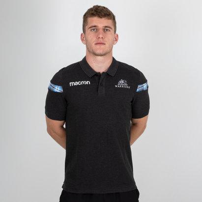 Macron Glasgow Warriors 2018/19 Polo de Rugby de Algodón Pique