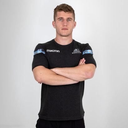 Macron Glasgow Warriors 2018/19 Camiseta de Viaje Poly Coton