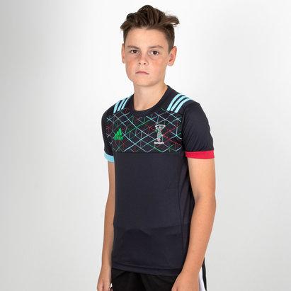 adidas Harlequins 2018/19 Performance T-Shirt de Rugby para Niños