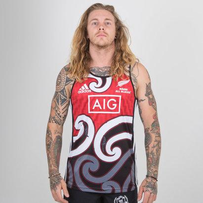 adidas Nueva Zelanda Maori All Blacks 2018/19 Camiseta sin Mangas de Entrenamiento de Rugby